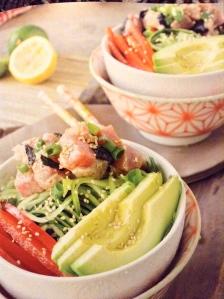 The ahi tuna poke bowl pic in the 21 Day Detox book