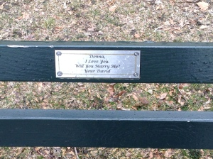 ... like marriage proposals made on a park bench