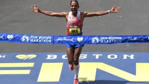 Meb wins 2014 Boston marathon