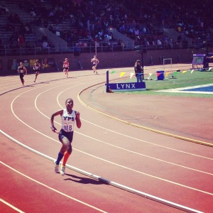 Shashauna running her heart out at the Penn Relays