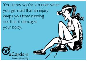 running injury card