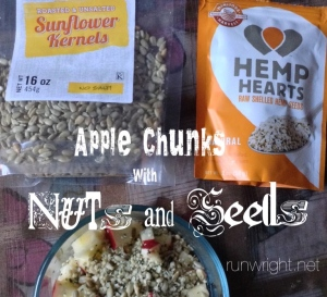 Apple chunks with nuts and seeds http---runwright.net