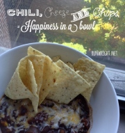 Chili, cheese and chips = happiness in a bowl http---runwright.net