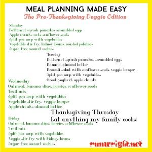 Pre-Thanksgiving Meal Plan http://runwright.net