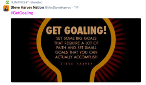This tweet from Steve Harvey