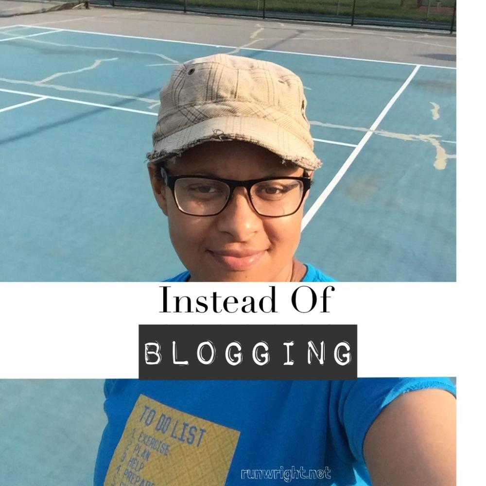 Instead of blogging