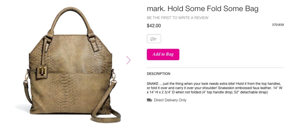 Fold All Mark Bag