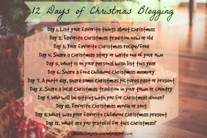 Christmas Blogging challenge