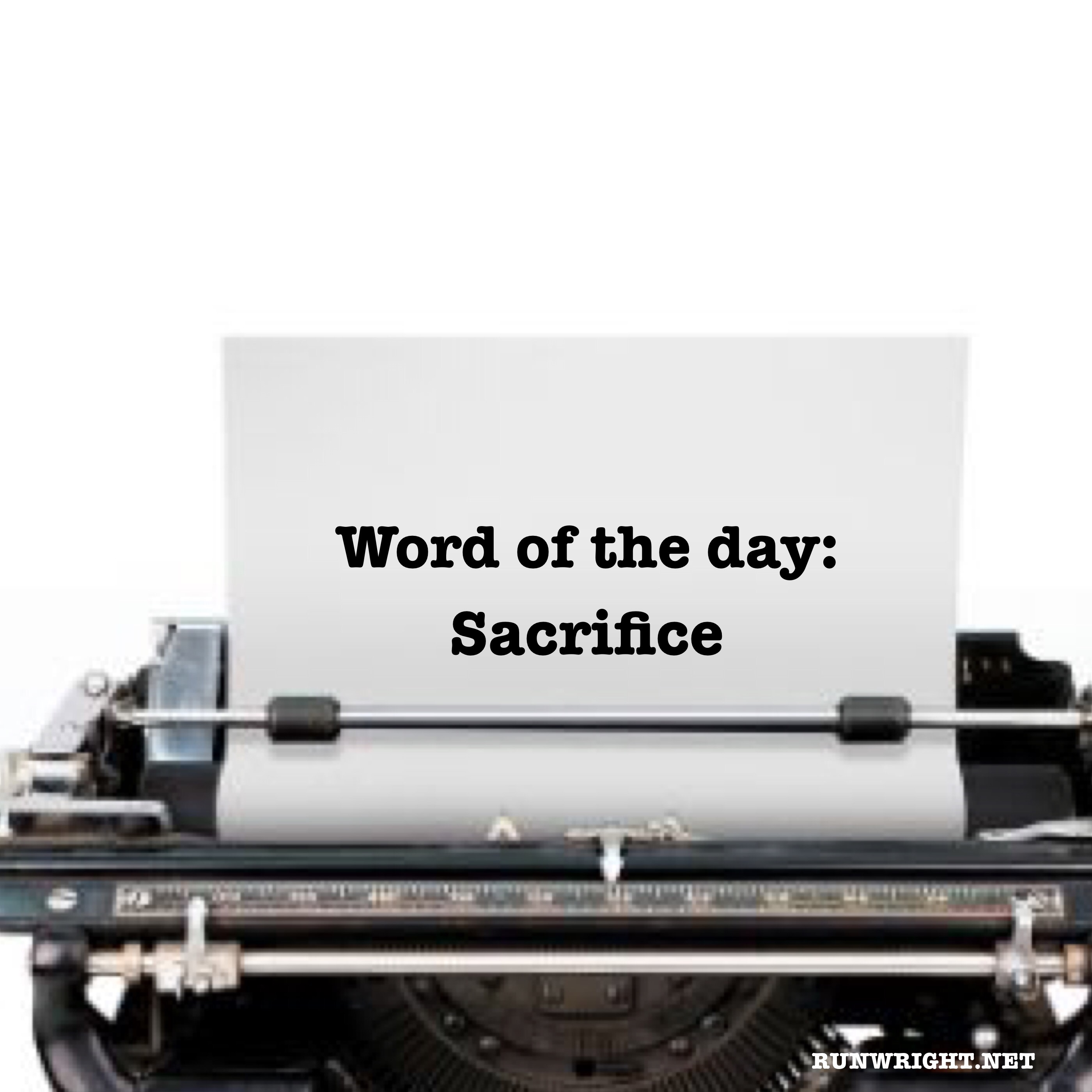what does the word sacrifice mean