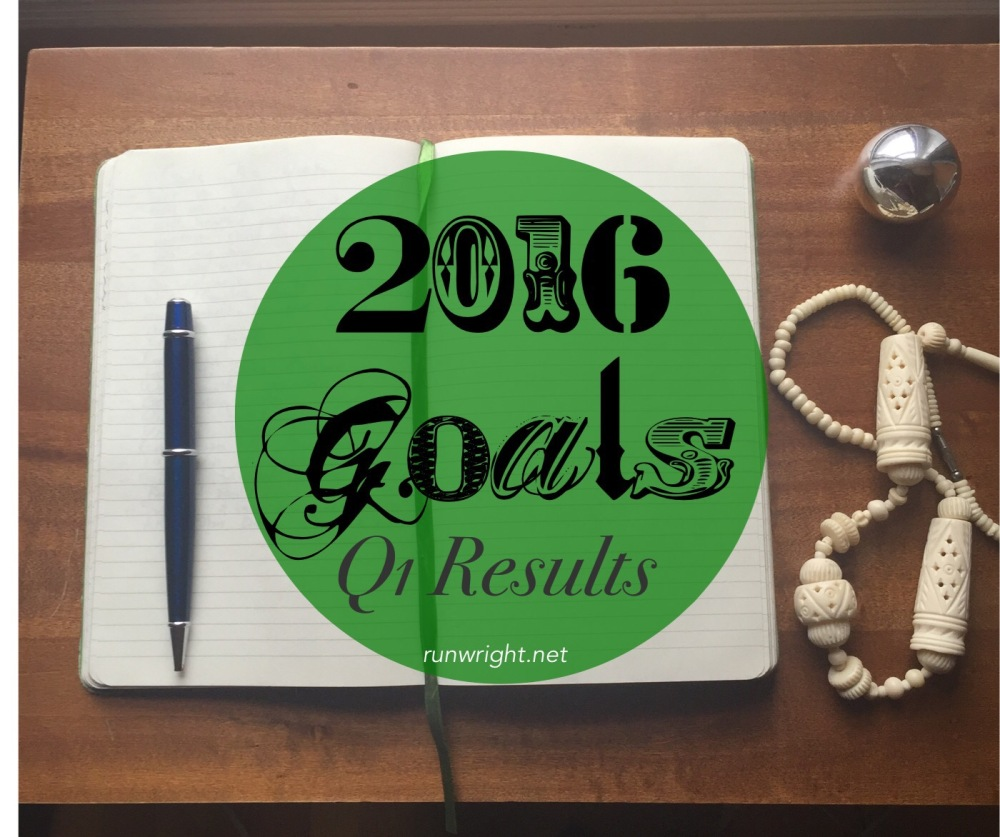 At the end of March, how are you doing with your 2016 goals?