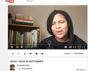 What I Read in September on RunWright Reads YouTube Channel
