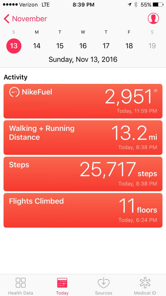 Half marathon walk