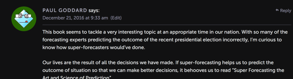 Favorite blog comment