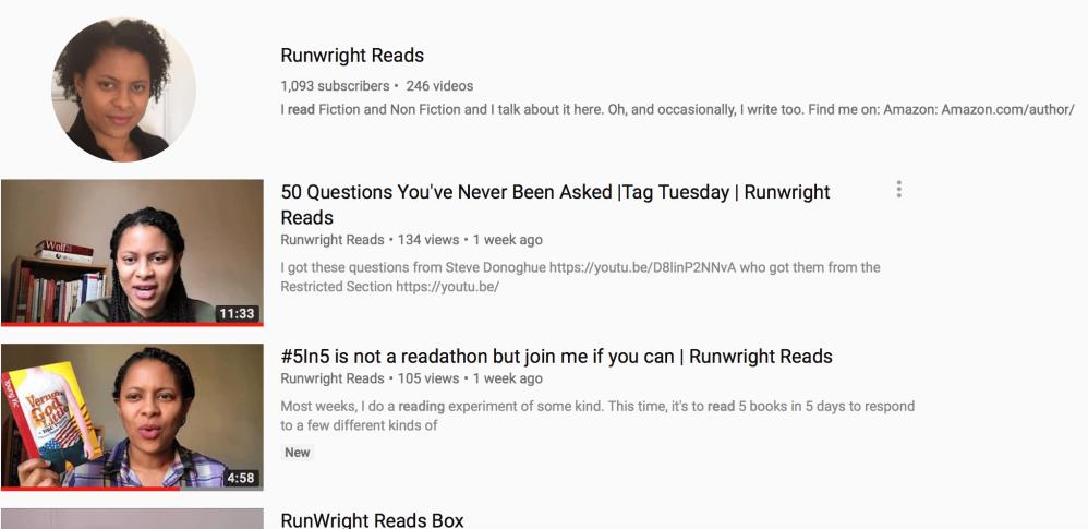YouTube Runwright Reads